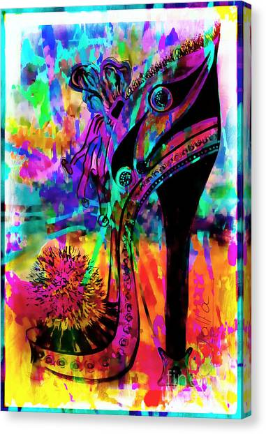 High Heel Heaven Abstract Canvas Print