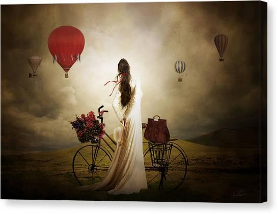 Hot Air Balloons Canvas Print - High Hopes by Shanina Conway