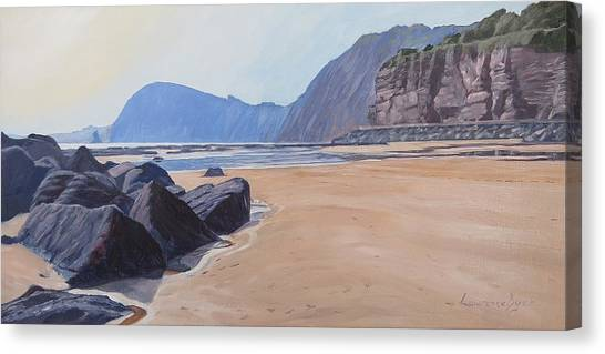 High Peak Cliff Sidmouth Canvas Print