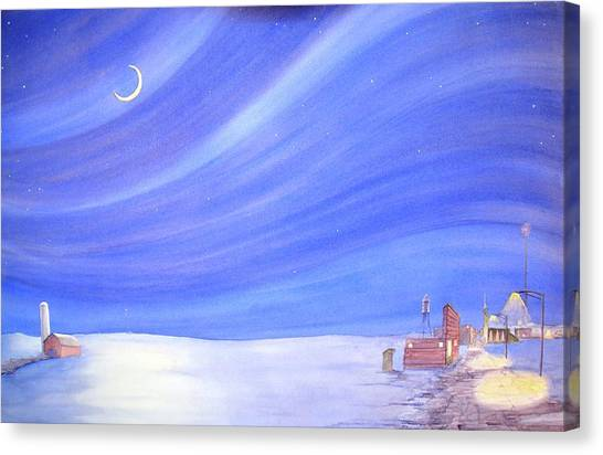High Plains Nightscape Canvas Print