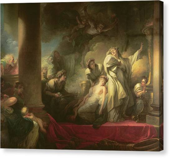 Priests Canvas Print - High Priest Coresus Sacrificing Himself To Save Callirhoe by Jean-Honore Fragonard