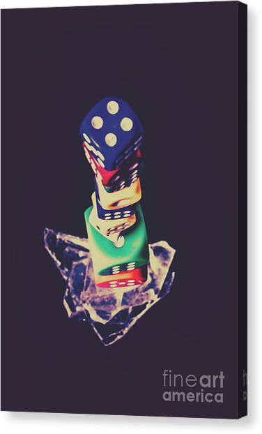 Wager Canvas Print - High Roller Luck by Jorgo Photography - Wall Art Gallery