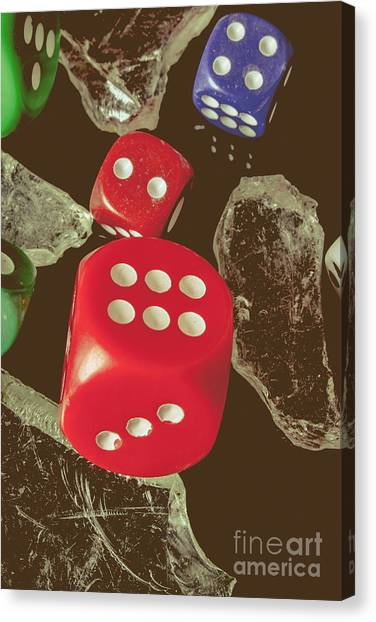 Wager Canvas Print - High Rollers Artwork by Jorgo Photography - Wall Art Gallery