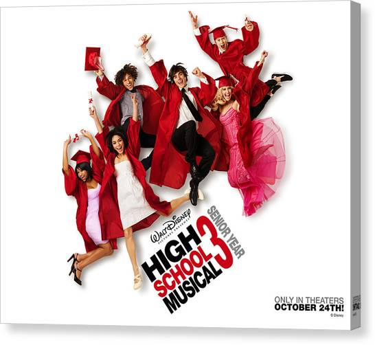 High School Canvas Print - High School Musical 3 Senior Year by Maye Loeser