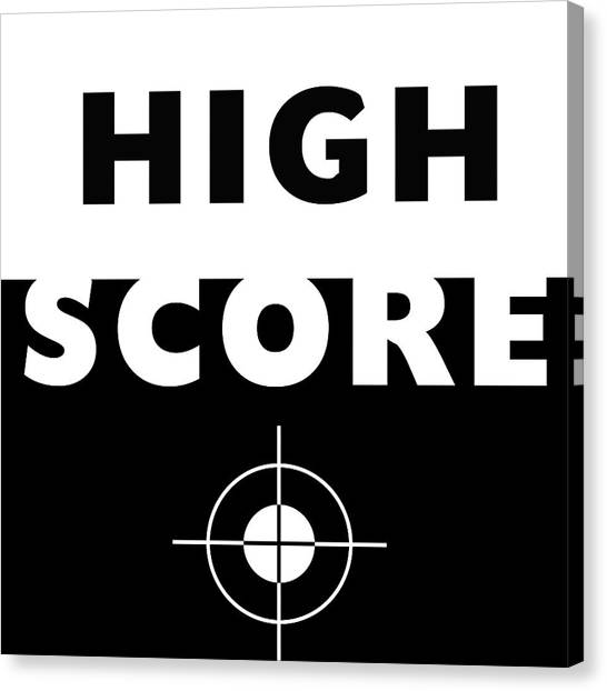 Gaming Consoles Canvas Print - High Score- Art By Linda Woods by Linda Woods