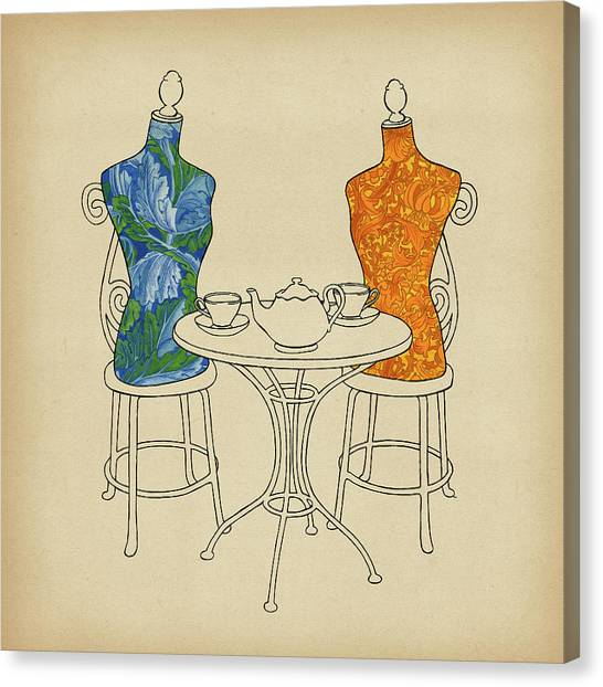 Dummies Canvas Print - High Tea by Meg Shearer