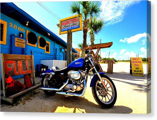 Flagler Beach Canvas Print - High Tides Harley by Andrew Armstrong  -  Mad Lab Images