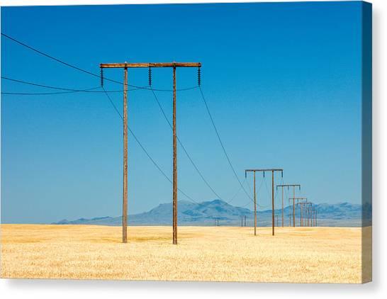 Utility Canvas Print - High Voltage by Todd Klassy