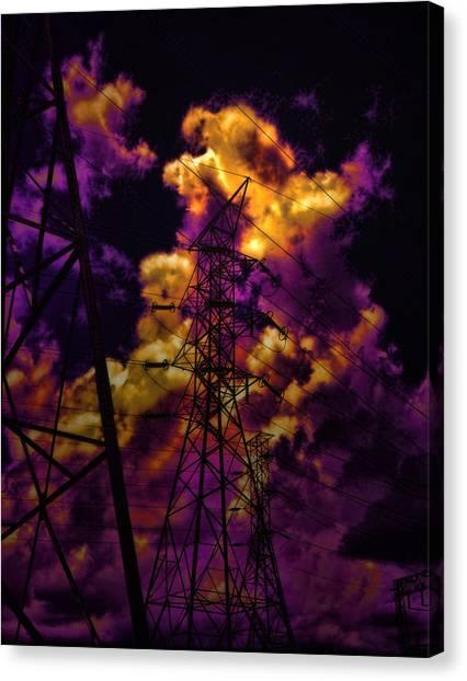 Ac Dc Canvas Print - High Voltage by Marcie  Adams