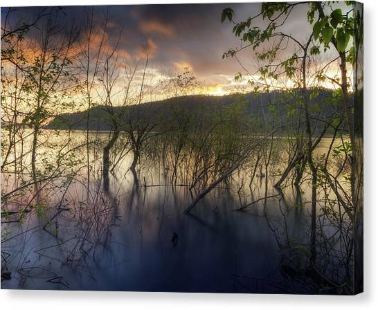 High Water Sunset Canvas Print