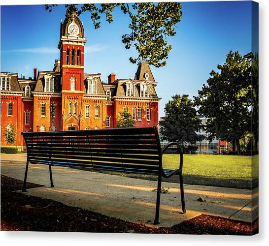 West Virginia University Wvu Canvas Print - Higher Learning by Aaron Geraud