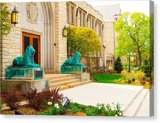 Northwestern University Canvas Print - higher Learning by Lisa Richards