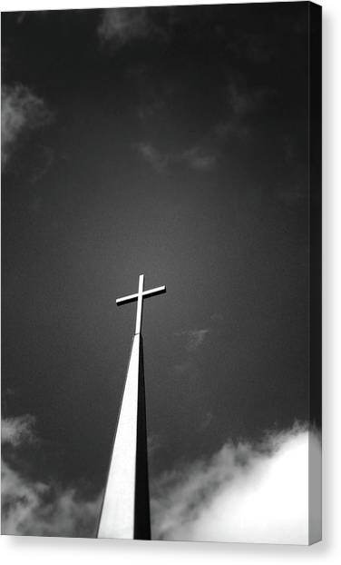 Nashville Canvas Print - Higher To Heaven - Black And White Photography By Linda Woods by Linda Woods