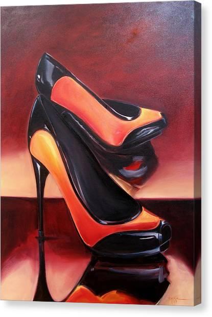 Highered Heels Canvas Print by Yvonne Dagger