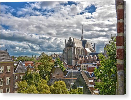 Highland Church Seen From Leiden Castle Canvas Print