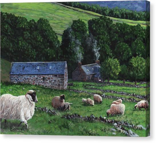 Highland Croft Canvas Print