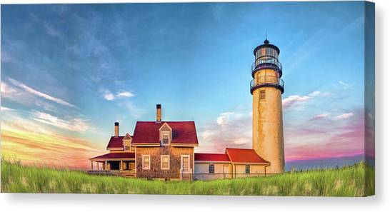 Canvas Print featuring the painting Highland Lighthouse by Christopher Arndt
