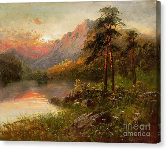 Wilderness Canvas Print - Highland Solitude by Frank Hider