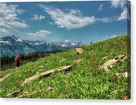 Highline Trail Adventure Canvas Print