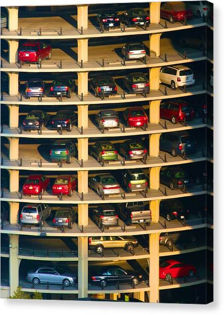 Highrise Carpark Canvas Print