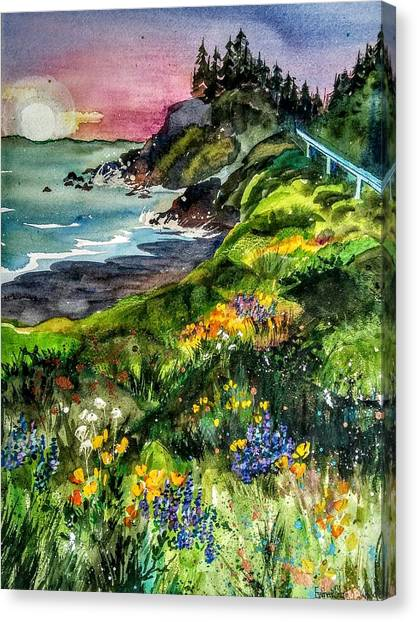 Highway  101 North Canvas Print