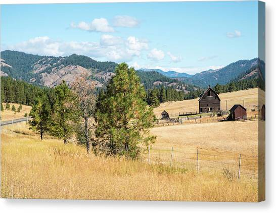 Highway 97 Ranch Memories Canvas Print