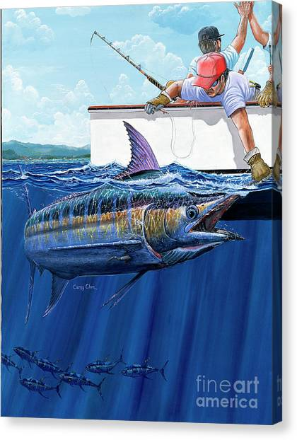 Angler Art Canvas Print - Hign Fives by Carey Chen