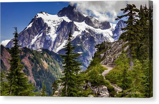 Hike To See Mt. Baker Canvas Print