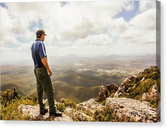 Backpacks Canvas Print - Hiking Australia by Jorgo Photography - Wall Art Gallery