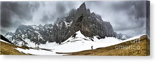 Hiking In The Alps Canvas Print