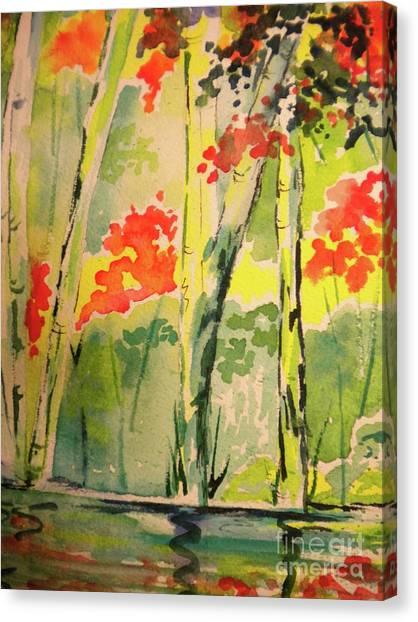 Hiking On The Blue Ridge Parkway Canvas Print