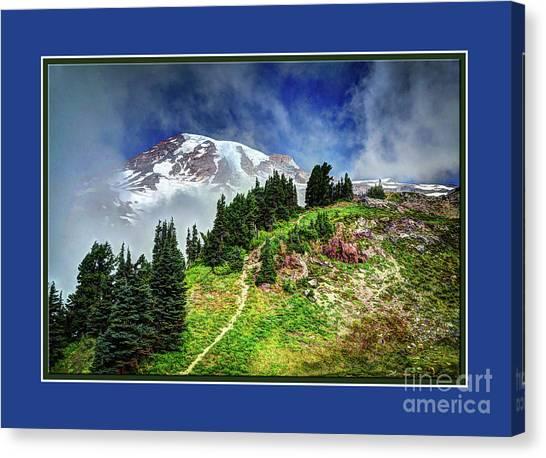 Hiking Rainier Canvas Print