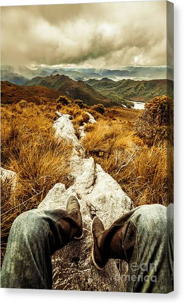 Mud Canvas Print - Hiking The Mount Sprent Trail by Jorgo Photography - Wall Art Gallery