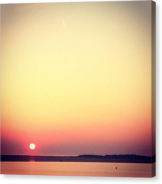 Kirby Canvas Print - Red Sun by Helen Smith