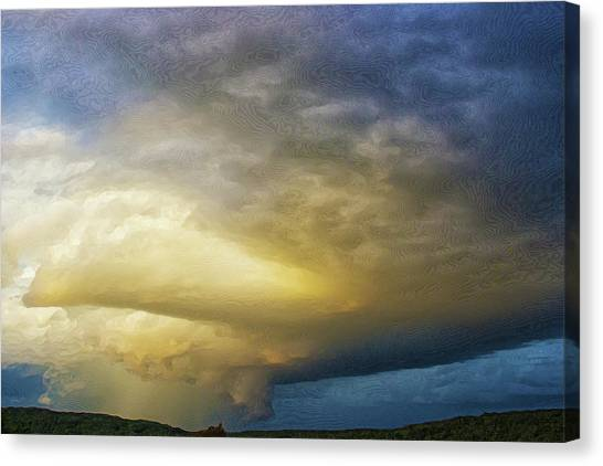 Hill Country Storm Canvas Print