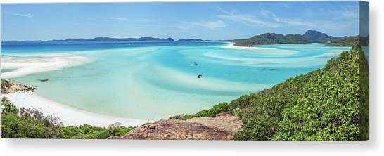White Sand Canvas Print - Hill Inlet Lookout by Az Jackson