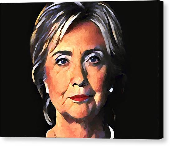 Bill Clinton Canvas Print - Hillary Clinton by Dan Sproul