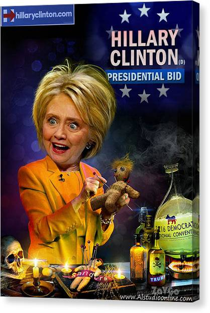 Hillary Clinton. President Program 2016 Canvas Print by Andrey Zavgorodniy