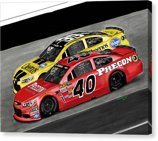 Stock Cars Canvas Print - Hillman Racing Sprint Cup 2015 Precon Marine by Myke  Irving
