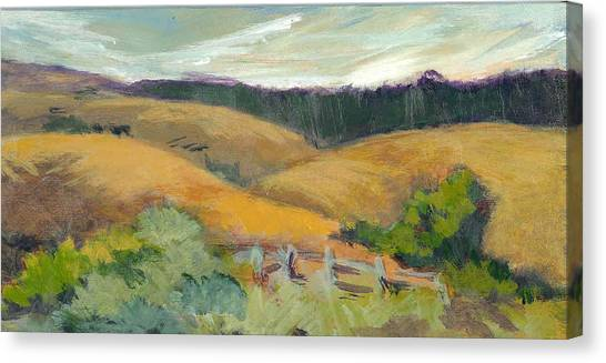 Hills Above Silicon Valley Canvas Print by Barbara Moore