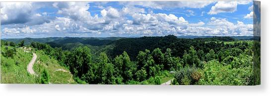 Hills And Clouds Canvas Print