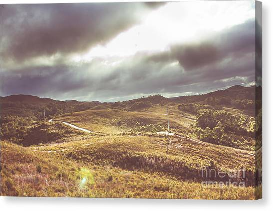 Rolling Hills Canvas Print - Hills And Outback Tracks by Jorgo Photography - Wall Art Gallery