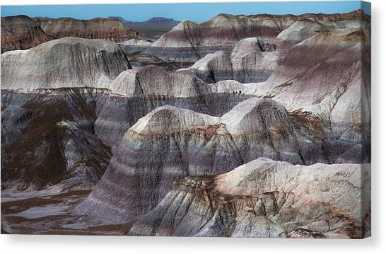 Petrified Forest Canvas Print - Hills Of Blue Mesa by Joseph Smith
