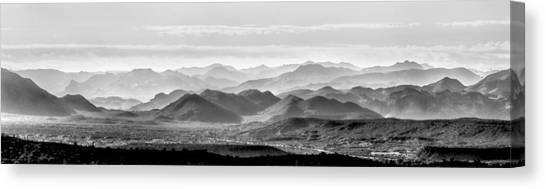 Mcherdering Canvas Print - Hills Of The Tonto by Mike Herdering