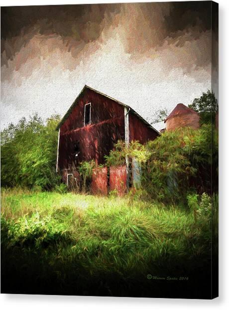 Woodland Canvas Print - Hillside Barn by Marvin Spates