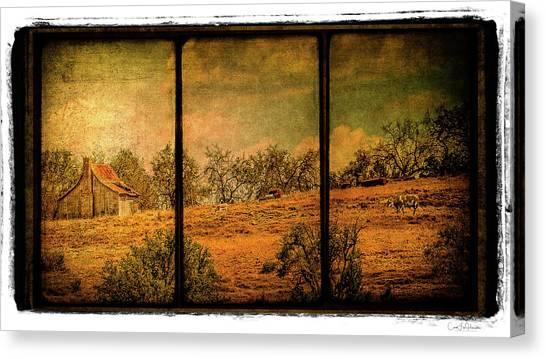 Hillside Farm Scene Triptych Canvas Print