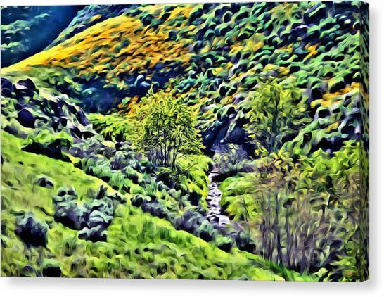Rolling Hills Canvas Print - Hillside Poppies - Impressions Two by Glenn McCarthy Art