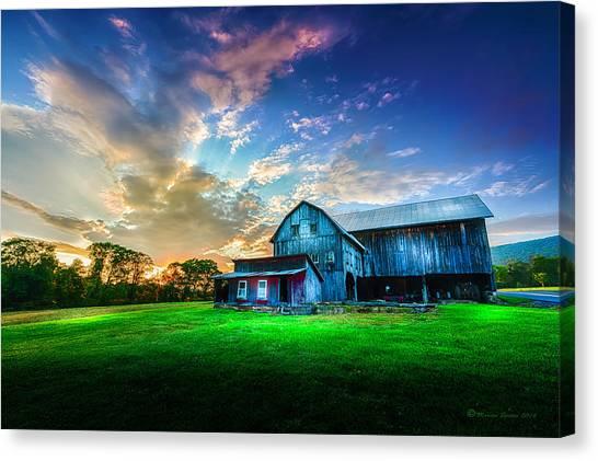 Farmstead Canvas Print - Hillside Sunset by Marvin Spates