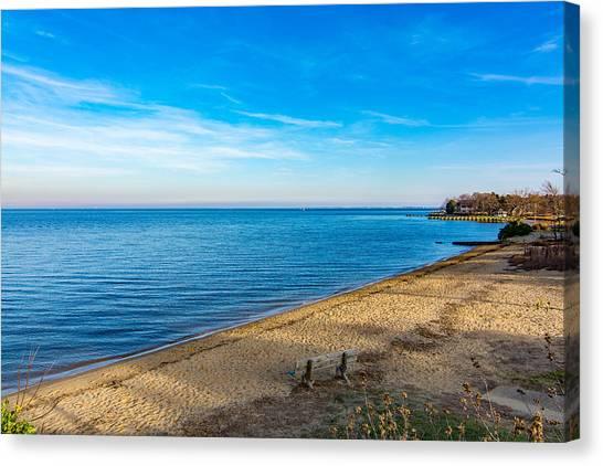 Hillsmere Beach On The Chesapeake Canvas Print