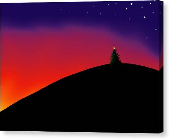 Hilltop Tree Canvas Print